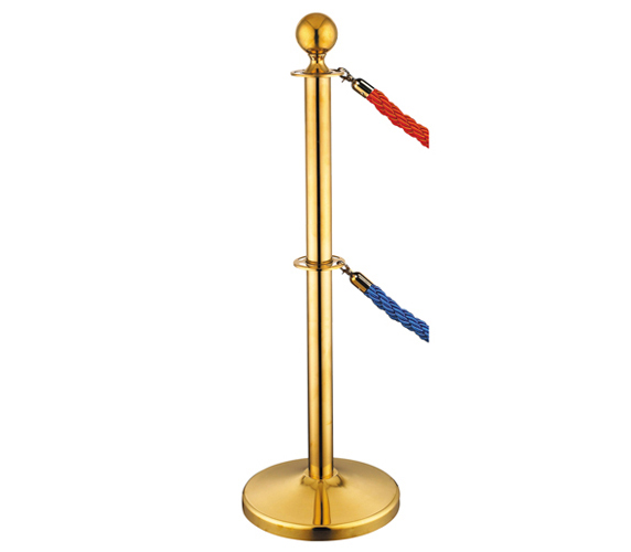 Titanium Color Double Crowd Control Posts with Ropes for Concert