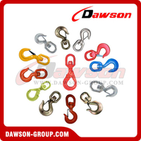 G80 / Grade 80 Forged Alloy Steel Swivel Hook with Latch for Crane Lifting Chain Slings