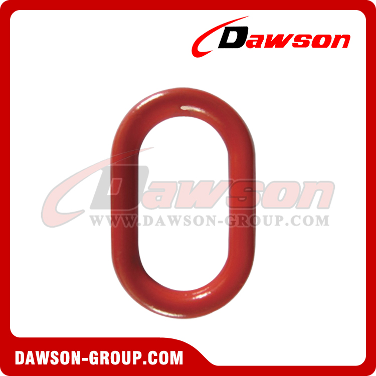 DS487 G80 Forged European Type Master Link for Chain Lifting Slings / Wire Rope Lifting Slings