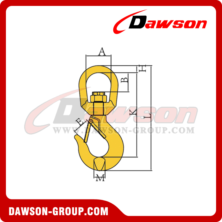 DS040 G80 SWIVEL HOOK WITH LATCH DAWSON-GROUP - CHINA FACTORY