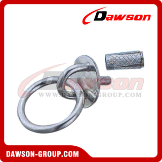 Stainless Steel Round Eye Plate with Ring