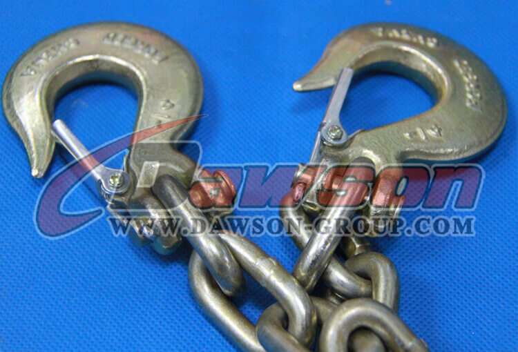 G70 Trailer Safety Chains Assembly with slip clevis hook latch on EACH end - China Supplier