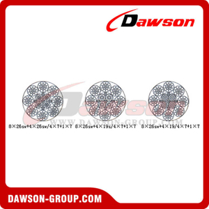Compaction Strand Wire Rope Construction (8×26SW+4×26SW/4×7+1×7)