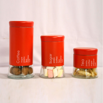 Red Coffee Canister