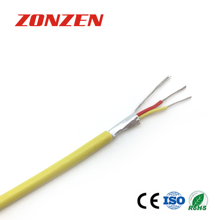 PVC insulated thermocouple extension wire with drain and aluminum mylar tape
