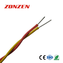 High temperature fiberglass insulated twisted pair thermocouple extension wire