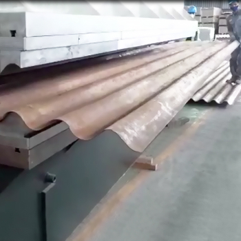 HARSLE metal Corrugated sheet forming machine, corrugating plate bending machine from Mexico