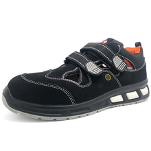 Black Leather Oil Slip Resistant Summer Sport Safety Shoes Composite Toe