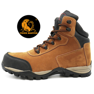 Oil Resistant Anti Slip Suede Leather Lining Steel Toe Safety Shoes To Chile