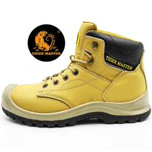 Oil slip resistant anti puncture mining safety shoes steel toe