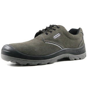 TIGER MASTER Low Ankle Anti Slip Suede Leather Work Shoes Steel Toecap