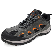 PU Sole Suede Leather Metal Free Hiking Sport Safety Shoes Composite Toe
