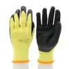 CE EN 388 Non Slip Oil Proof Black Latex Coating Gloves