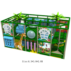 CE Approved Jungle Theme Indoor Play Structure