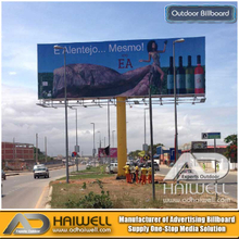 Double Sided Column Outdoor Advertising Billboard