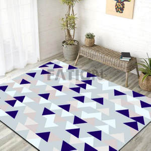 Print Non-slip Rug Non-woven Fabric Backing Floor Carpet