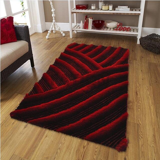 5'×8' Red Thick Shag Rug Soft Carpet