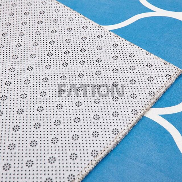 High Quality Anti-skid Non-woven Fabric Backing Print Rug