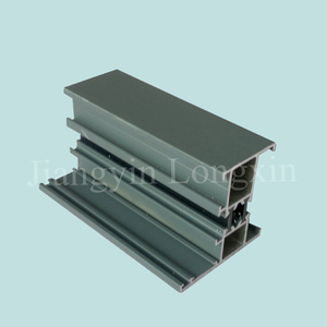 Green Powder Coated Aluminum Frame for Windows, Thermal Break