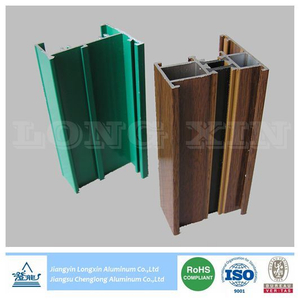 Thermal Break Wooden Print And Powder Coated Aluminium Profile for Casement Window