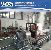 Plastic Compounding Caco3 Filler Masterbatch Extruder Machine