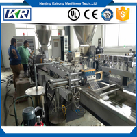 Polypropylene Caco3 Polymer Masterbatch Granulator Making Plastic Twin Screw Extruder Plastic Compound Machine