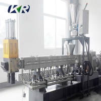 PP PE PVC Granule Making Extruder Caco3 Filling Masterbatch Plastic Extrusion Compound Machine