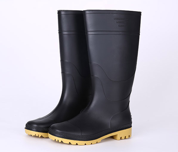 Light weight non safety pvc rain boots
