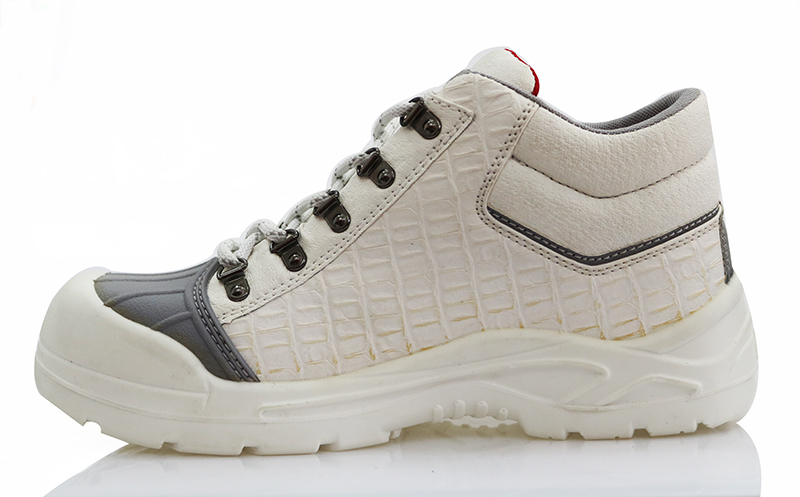 Food industry steel toe white safety shoes