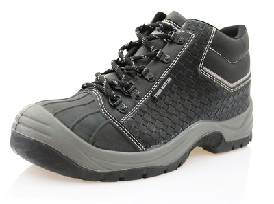 Microfiber leather pu sole industrial safety shoes