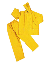 High quality PVC waterproof hooded yellow rainwear