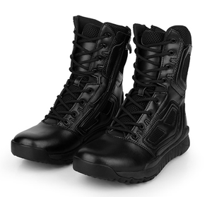 Genuine leather military combat boots