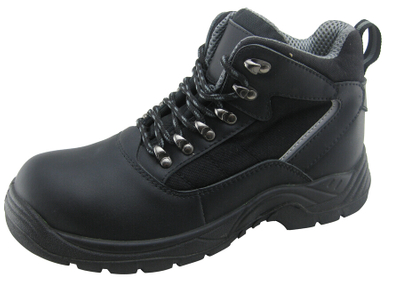 PU rubber sole genuine leather industrial safety shoes