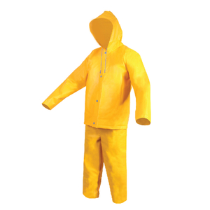 Two pieces waterproof heavy duty pvc raincoat suit