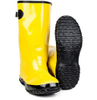 Rubber overshoes, yellow slush rubber boots