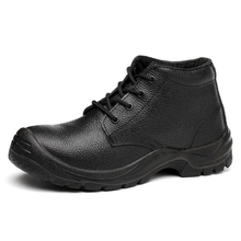 HS6622 genuine leather pu sole men safety boots