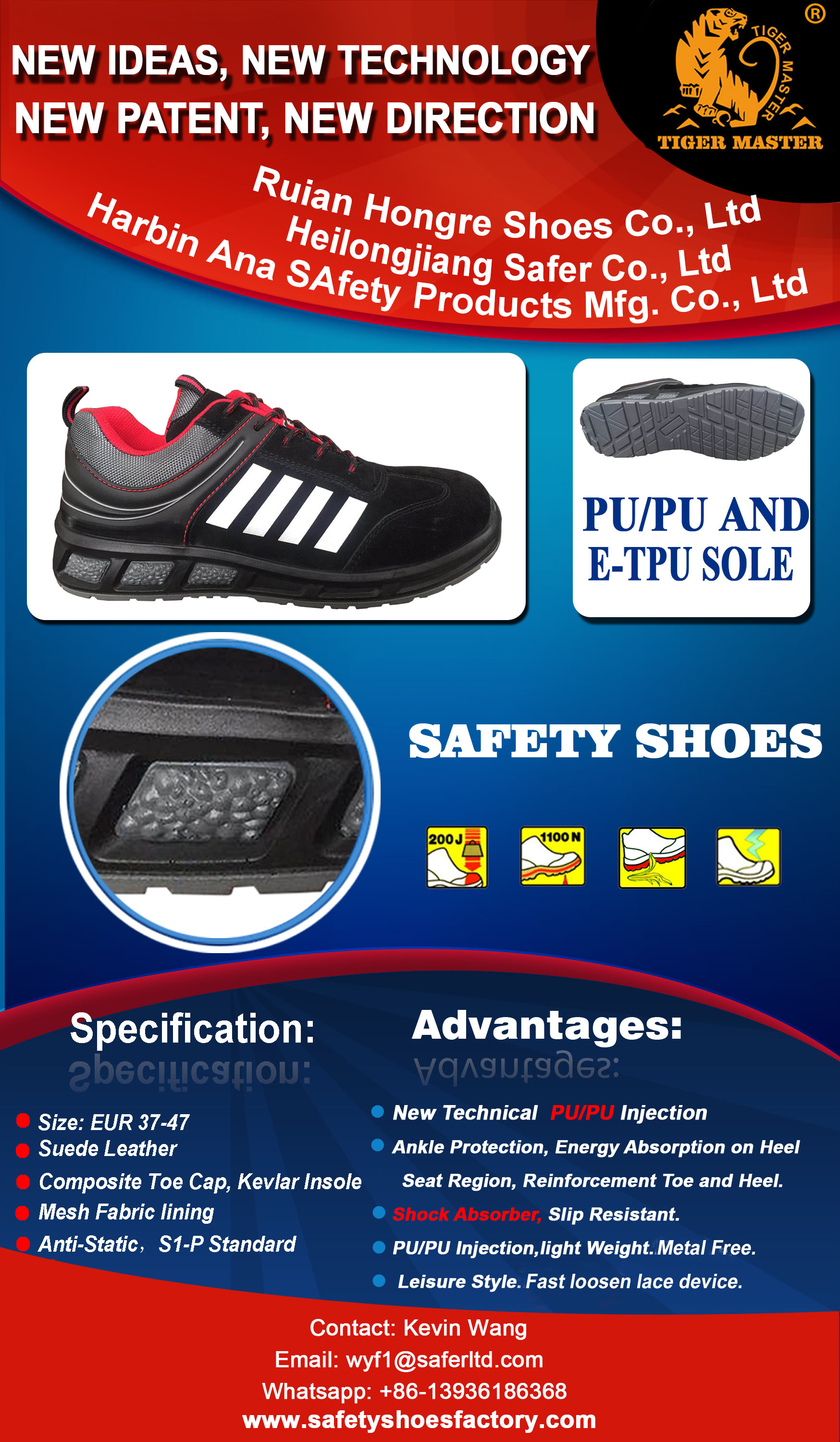 ETPU SOLE SAFETY SHOES