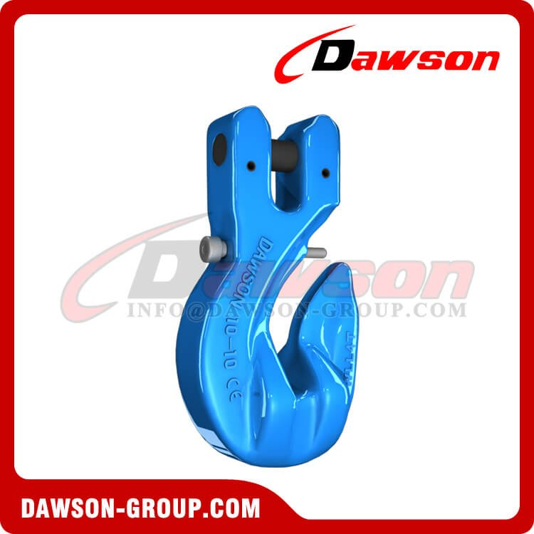 G100 Special Clevis Grab Hook with Safety Pin, Grade 100 Forged Alloy Steel Clevis Grab Hook for Chains - China Supplier, Factory