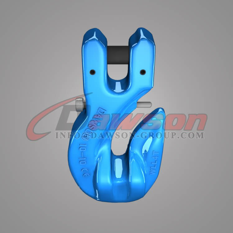 Grade 100 Special Clevis Grab Hook with Safety Pin, WLL 4T Forged Clevis Hook - China Factory, Exporter - Dawson Group Ltd.