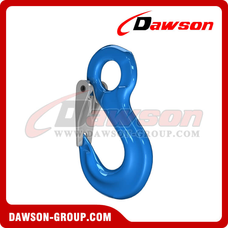 G100 Eye Sling Hook with Latch for Lifting Slings, Grade 100 Eye Hook - China Manufacturer Supplier, Exporter, Factory
