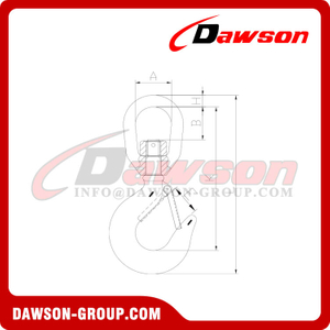 DS372 Forged Swivel Hook