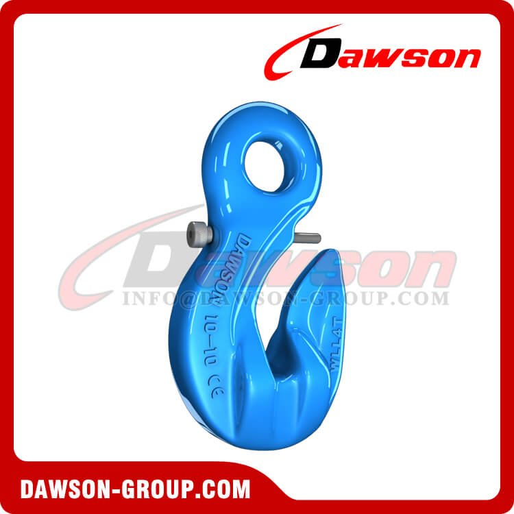 G100 Special Eye Grab Hook with Safety Pin, Grade 100 Forged Alloy Steel Eye Grab Hook - China Factory, Exporter