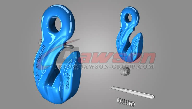 G100 Special Eye Grab Hook with Safety Pin, Grade 100 Forged Eye Grab Hook for Lifting Chain Slings - China Supplier