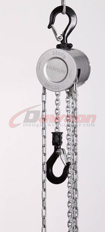250KG Mini Aluminum Alloy Chain Hoist, Chain Block for Construction Site Lifter - China exporter