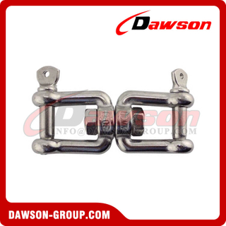 Marine Hardware Stainless Steel Chain Double Jaws End Swivel