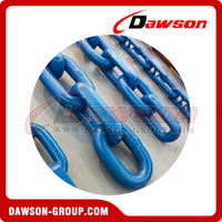 G100 Grade 100 High Quality Welded Painted Steel Mining Chain / Grade C Alloy Steel Mining Chain for Conveyor