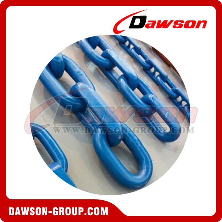 G100 / Grade 100 High Quality Welded Painted Steel Mining Chain / Grade C Alloy Steel Mining Chain for Conveyor