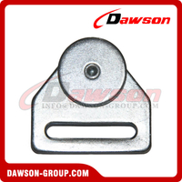 White Zinc Plated Steel Roller with Wheel-Ball Bearing for Truck Trailer Parts