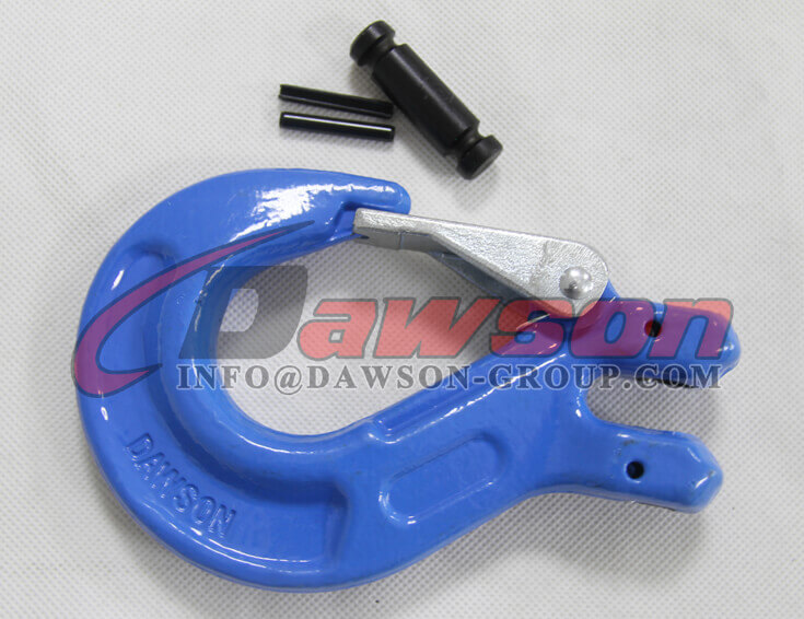 Grade 100 Clevis Sling Hook With Safety Latch for Chain Sling - Dawson Group Ltd. - China Supplier