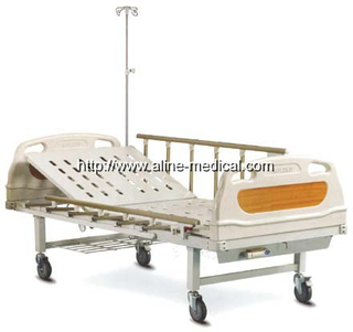 One crank manual hospital bed